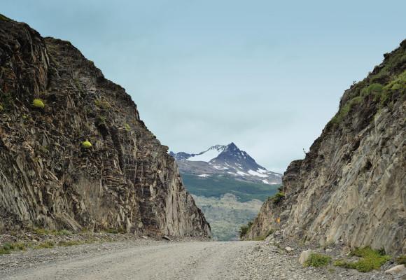 дорога в Торрес дель Пайне