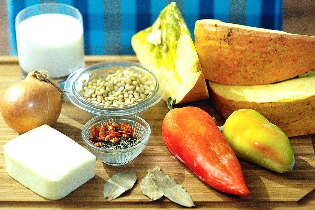ингредиенты для супа из тыквы