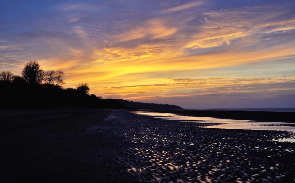 закат в нормандии
