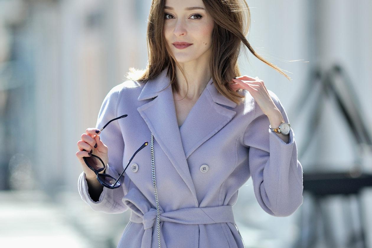 Лиловое пальто как символ весны